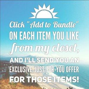 Add items to a bundle!